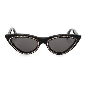 Celine Cateye Sunglasses w/ Crystal Embellishments